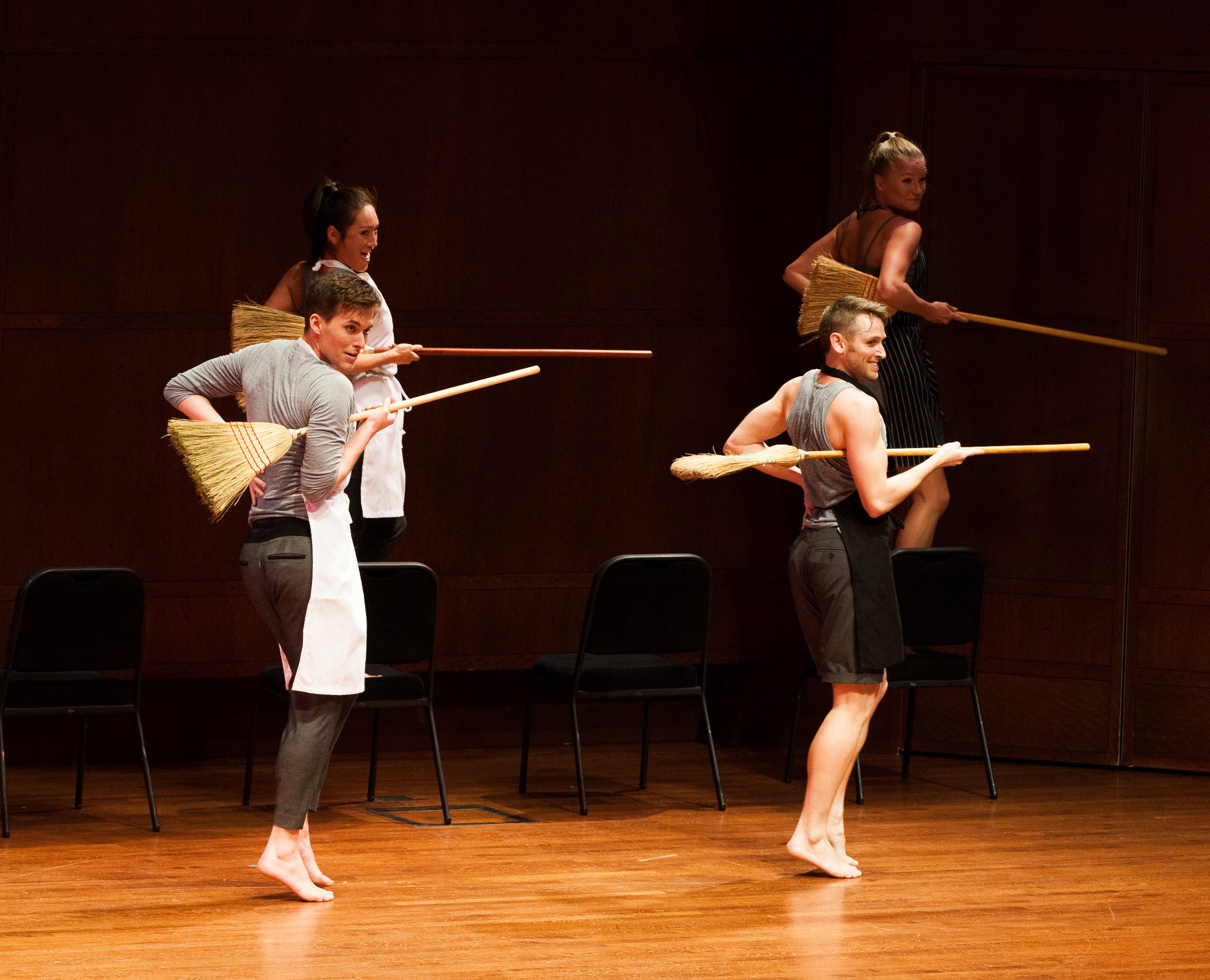 Tory Peil, Kyle Johnson, Thomas Phelan, Lara Seefeldt; Whim W'Him Contemporary Dance Company