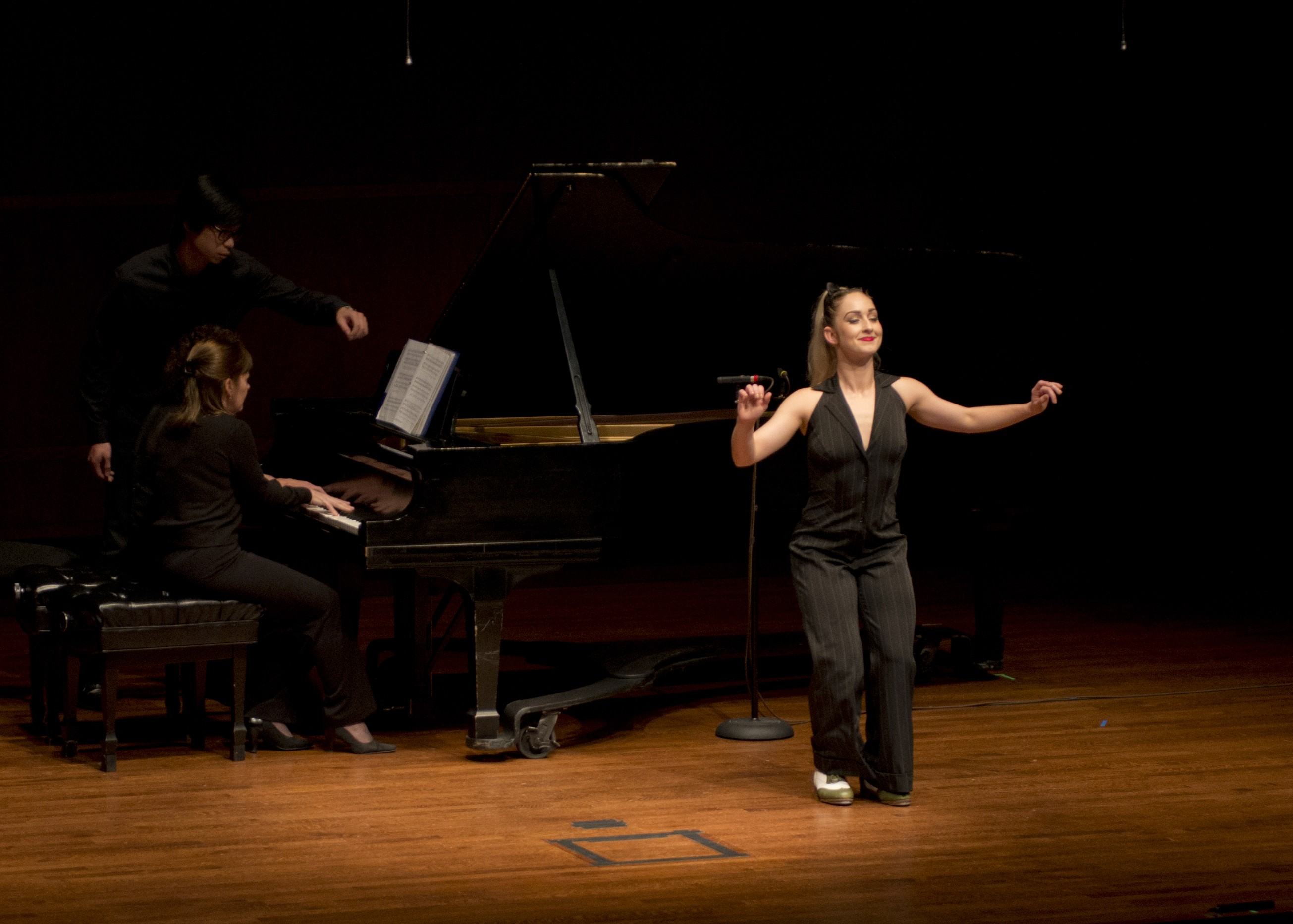 Mina Miller, Piano; Kimberly Russ, piano; Shadou Mintrone, tap dancer